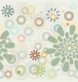spring garden abstract flowers seamless pattern vector image vector image