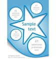 Star layout vector image vector image