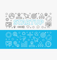 startup horizontal banners set start-up vector image vector image