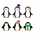 Tall penguins with clothes vector image vector image