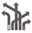 The roads in different directions Destinations in vector image vector image
