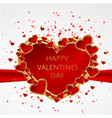 valentines day abstract background with red heart vector image