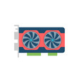 video card related icon vector image