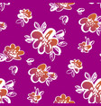 vintage style hand drawn flowers seamless pattern vector image vector image