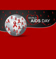 world aids day design vector image vector image
