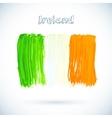 Painted Irish flag vector image