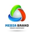 Abstract logo Creative colorful design vector image