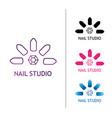 fashion nails studio logo for the beauty salon vector image