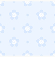 Seamless blue floral Pastel pattern for boy vector image