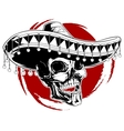 Mexican skull tattoo vector image
