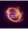 2021 happy new year vector image vector image