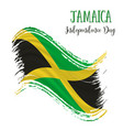 6 august jamaica independence day background vector image vector image