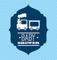 babby shower design vector image vector image