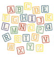 Baby blocks alphabet vector | Price: 1 Credit (USD $1)