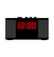 black alarm clock vector image vector image