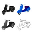 blue two wheeled scooter transport for moving vector image vector image