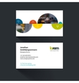business card template with half spheres vector image