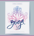 cards for yoga studio with lettering paisley vector image vector image