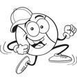 Cartoon running baseball vector image vector image