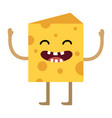 cheese piece cartoon vector image