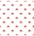 christmas hat with pompom pattern vector image vector image