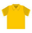 clean t shirt icon flat style vector image vector image