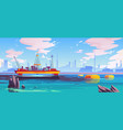 cleaning oil in ocean robots bio-cleaners vector image