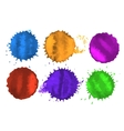 colored spots vector image vector image