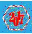 Colorful Confetti Christmas Background vector image vector image