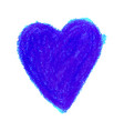 colorful heart shape drawn with vector image vector image
