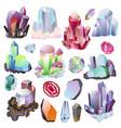 crystal crystalline stone or precious vector image