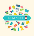E-commerce Shopping Symbols vector image vector image