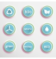 Eco buttons vector image vector image