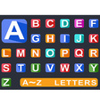 flat alphabet Long shadow icons vector image vector image