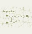formula hormone dopamine vector image vector image