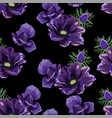 garden violet anemone flower vector image