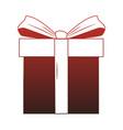 giftbox present cartoon red lines vector image vector image
