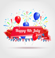 happy 4th july greeting postcard vector image