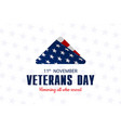 happy and free veterans day november 11th folded vector image vector image