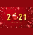happy new year 2021 background with shining vector image