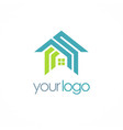 home roof realty company logo vector image vector image