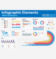 infographic elements web analytics design template vector image vector image