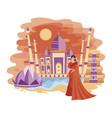 landscape new delhi cartoon vector image
