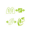 leaf logo design template set vector image vector image