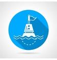 Marine buoy blue round icon vector image vector image