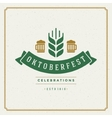 Oktoberfest vintage poster or greeting card vector image vector image