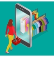 Online shopping and consumerism concept Mobile vector image