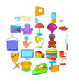 pacification icons set cartoon style vector image