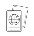 passport line icon vector image