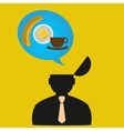 Persons thoughts about food design Concept vector image vector image